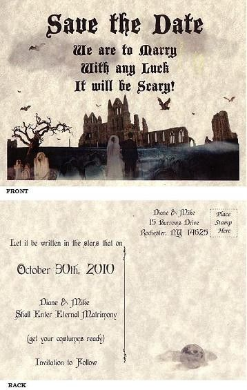 12 49 For Qty 25 Save The Dates Halloween Costume Wedding