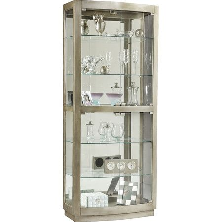 Featuring 4 Glass Doors And A Platinum Finish This Versatile Wood