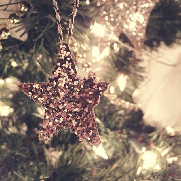 Glitter star ornaments.....Jones Design Co