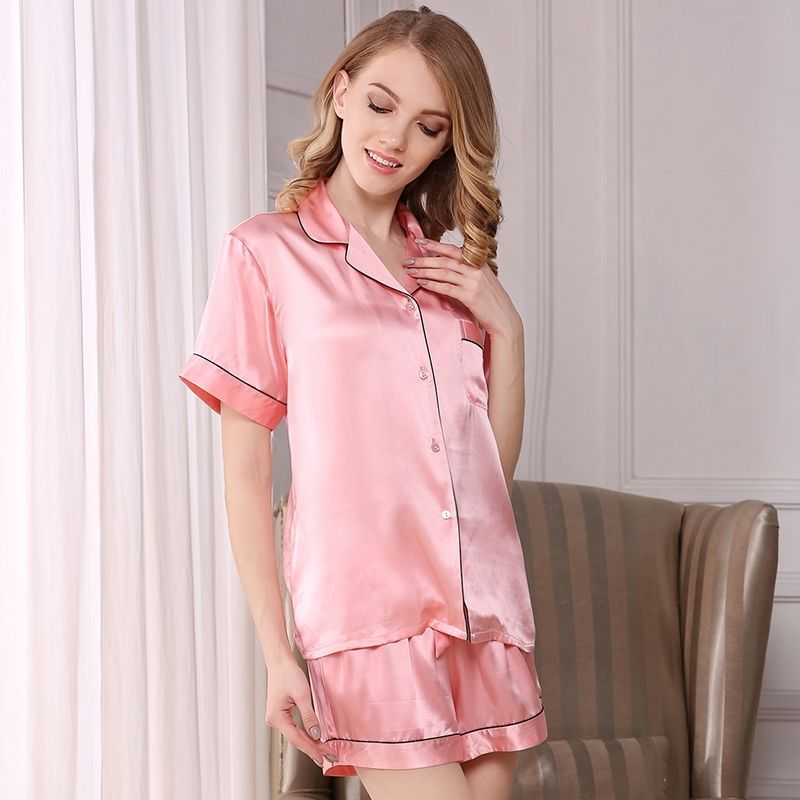 19 Momme Classic Silk Shirt And Shorts Set  2d422e5fc