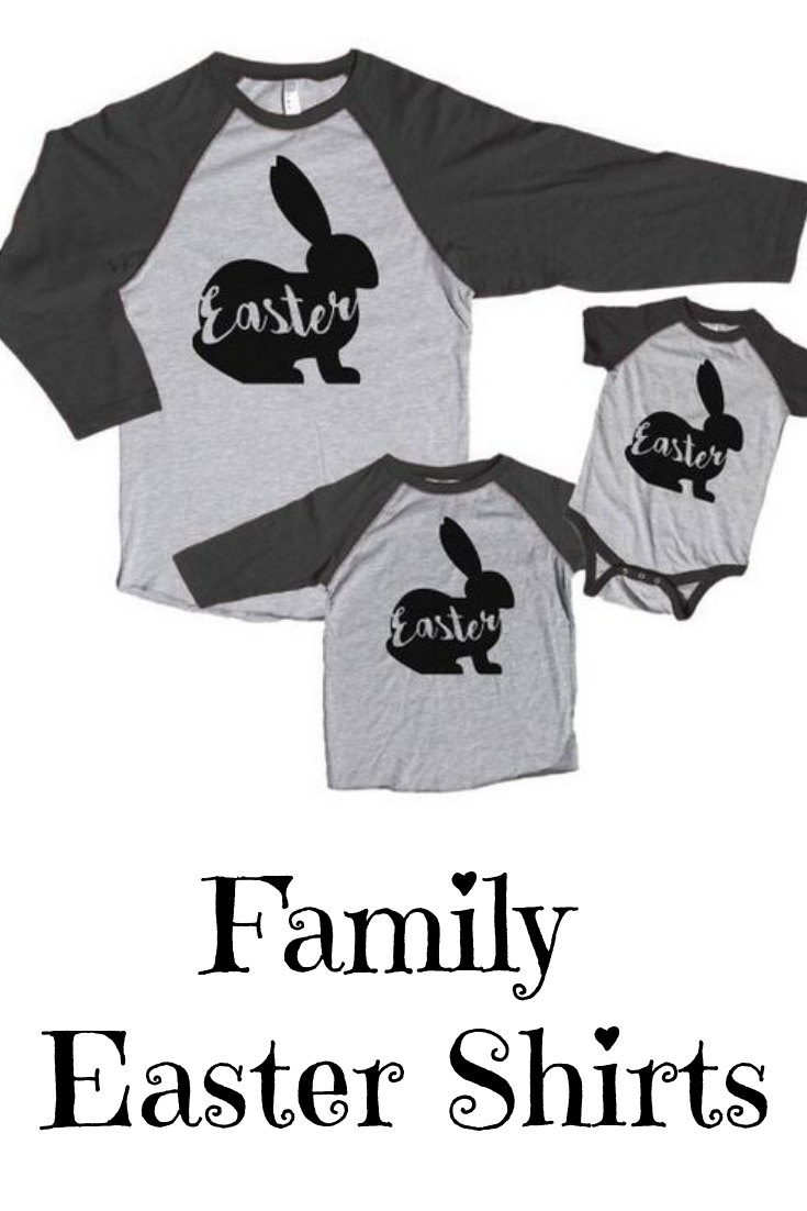 e78c1208 Family Easter Shirts - Matching Happy Easter Shirts - Family Easter Bunny  Shirts - Men's, Women's, Youth, Toddler, Infant - Grey Raglan #familyshirts  ...