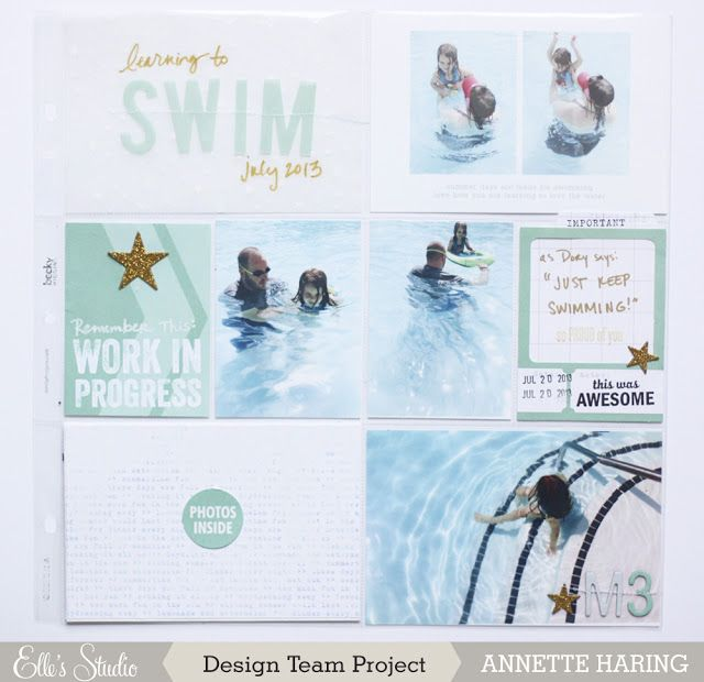 this and that: Elle's Studio August Kit   Project Life Layout