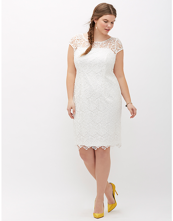 Lace Cap Sleeve Dress By Adrianna Papell Lane Bryant Wedding