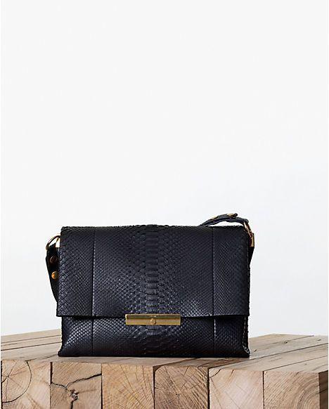 0a536f3d1b Celine Blade Black Python Calfskin Flap Bag - Fall 2013