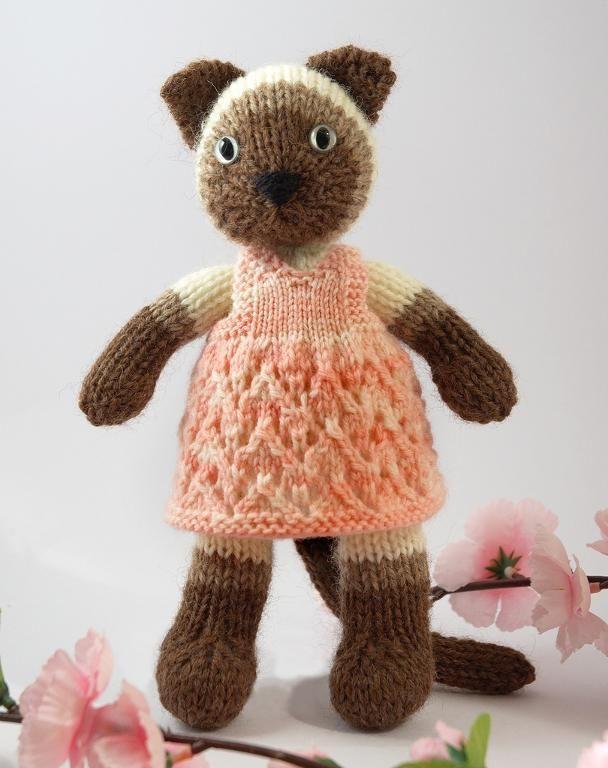 siamese kitty knit pattern