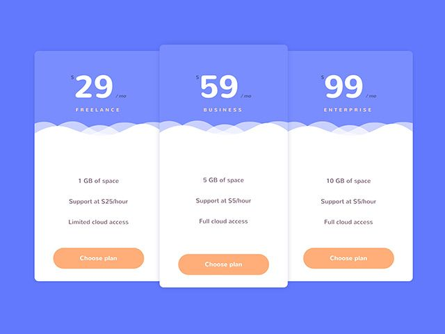Pricing Tables With Html Css Freebiesbug Pricing Table Web Design Pricing Web Design Resources