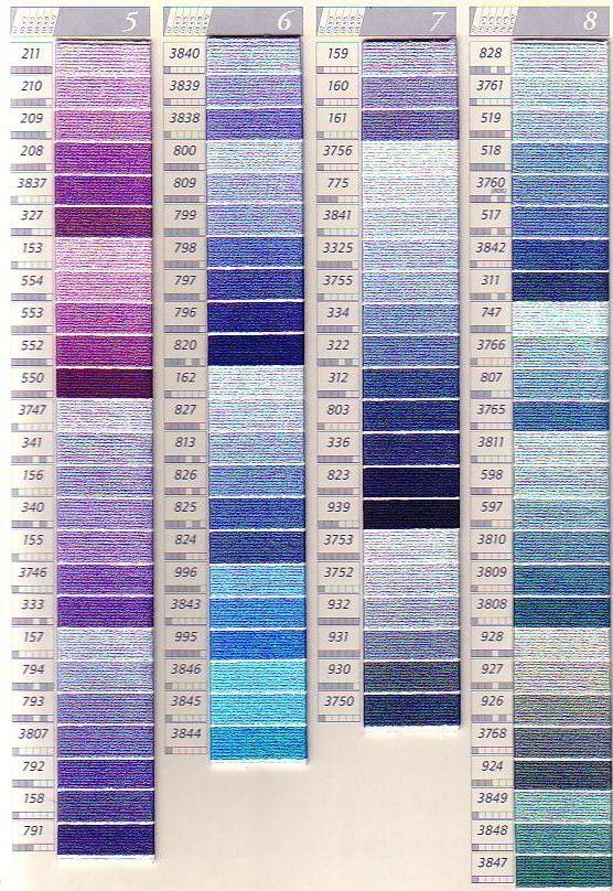 Dmc Sc Perle Colour Chart Columns 5 8