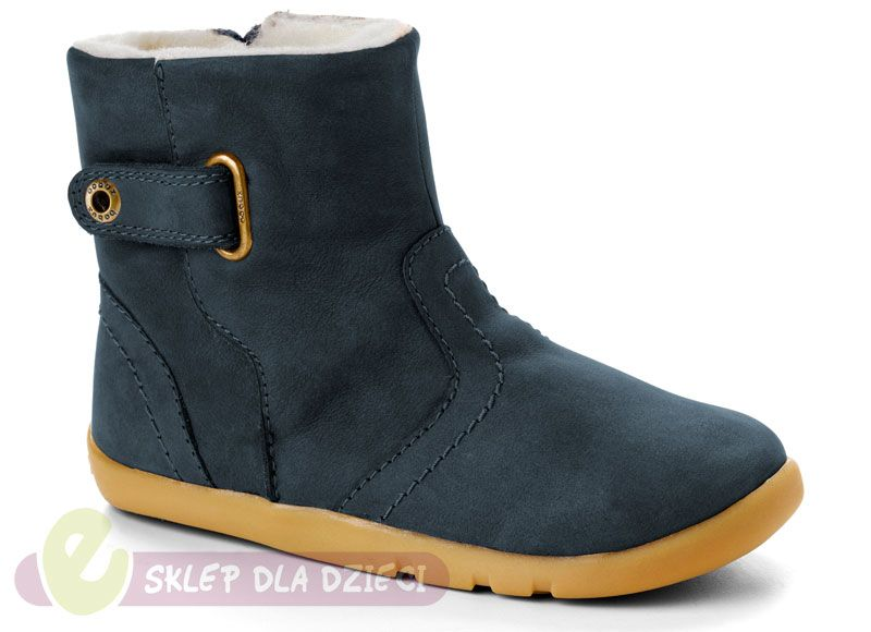 Bobux I Walk Blizzard Boot Navy R 23 Boots Light Brown Leather Leather
