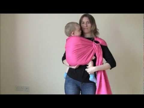 9dadfeb351e Ringsling preparation and hip carry - Préparer un sling et portage hanche -  YouTube