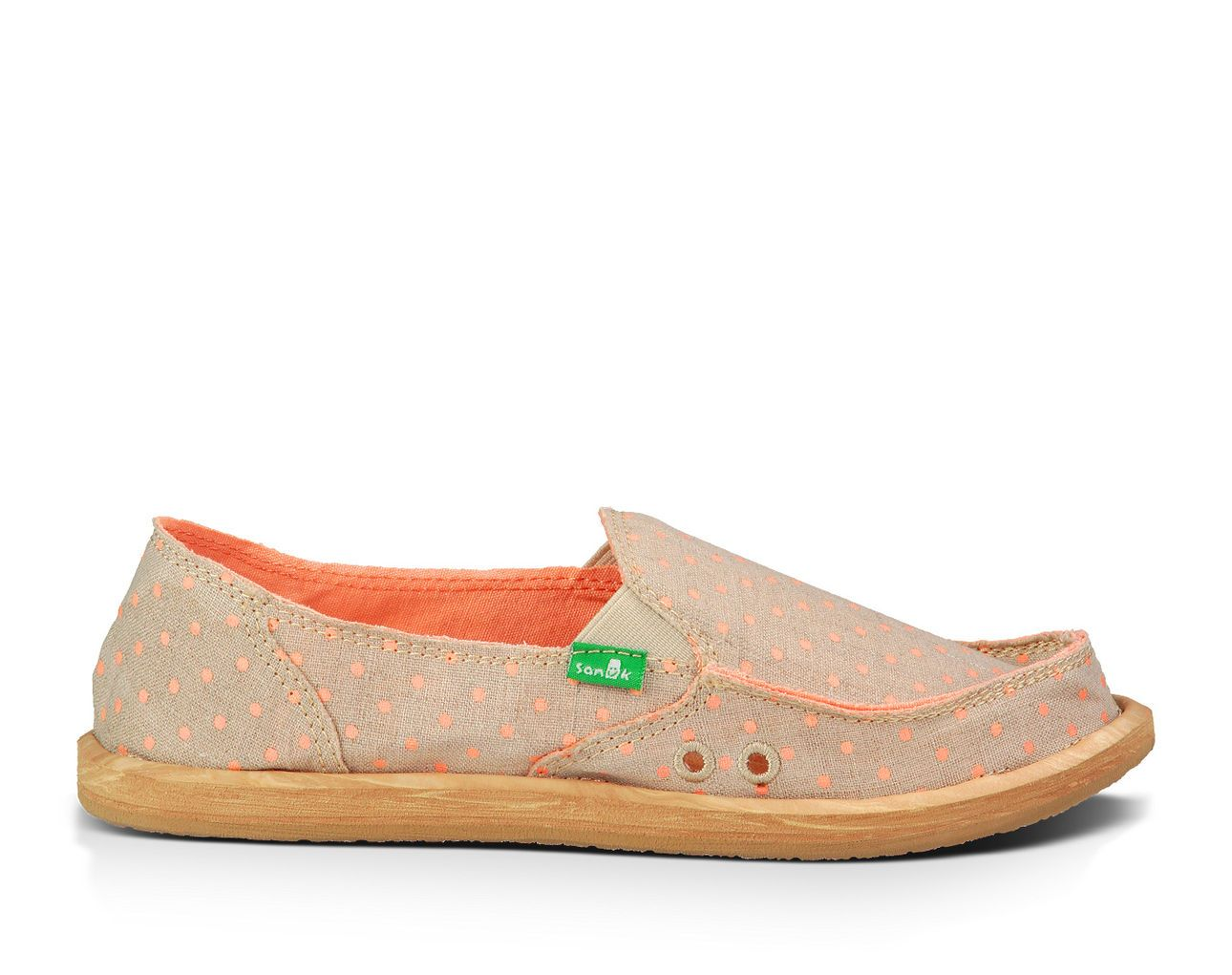2d7ea517da5b  CASUAL  SUMMER  SHOES   SANUK - Women s SANUK  Hot Dotty  (Natural - Peach  Dots) Sidewalk Surfers Casual Shoes