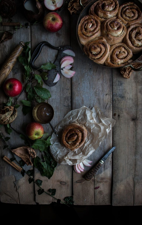 vegan spelt apple cinnamon buns collaboration
