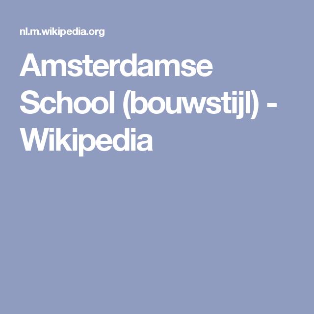 Amsterdamse School (bouwstijl) - Wikipedia