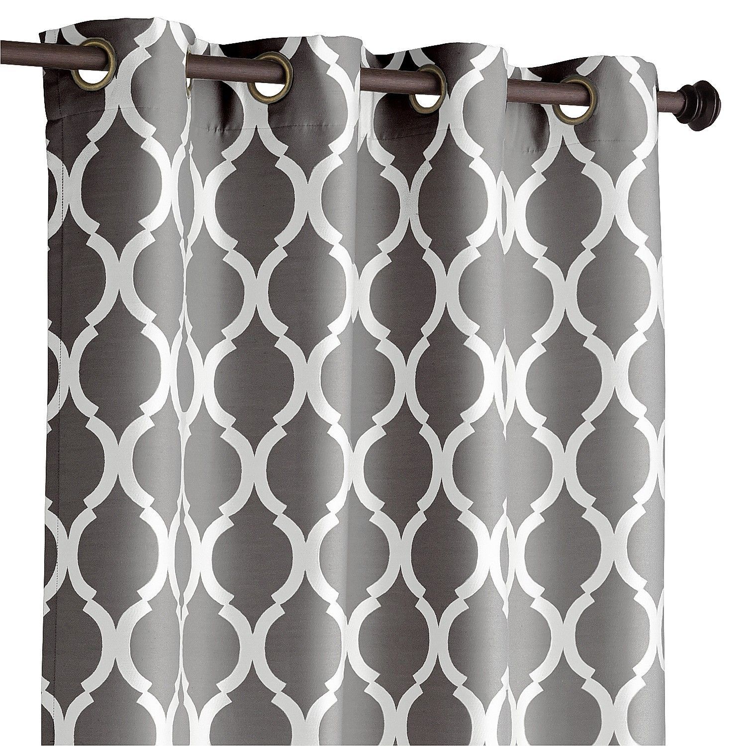 Woven Jacquard Construction Highlights The Soft Geometric Pattern Of This Classic Design Fully Lined And A Breeze To Hang With Grommet Top Our Curtain