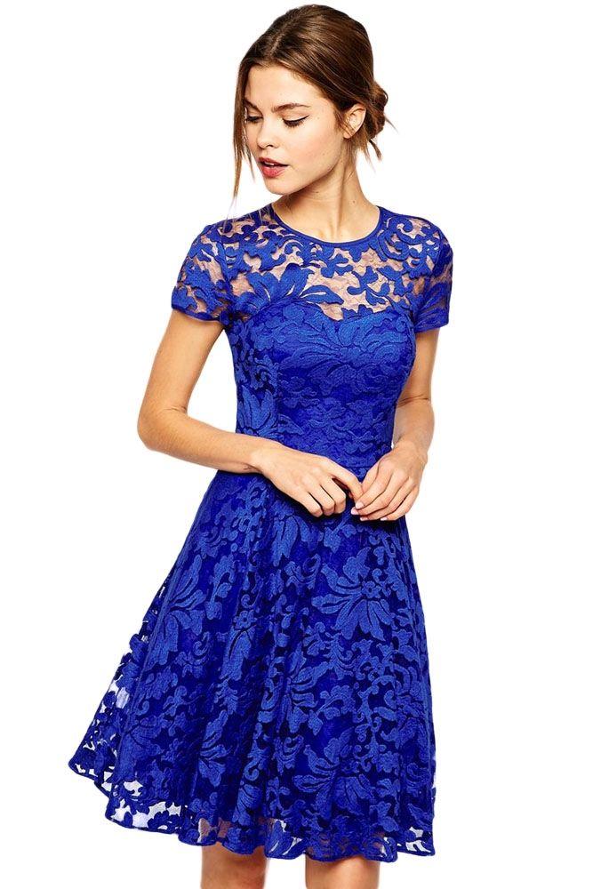 Royal Blue Fairy kjole   Nye