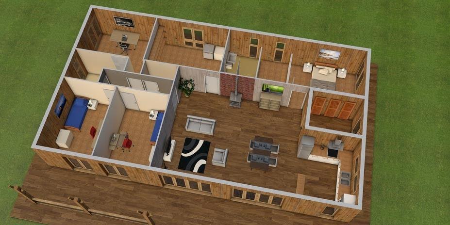 vue 3D maison coloniale louisiane Pinterest Aquitaine and