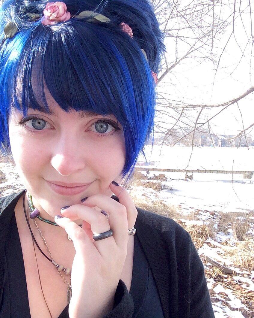 Splat Blue Hair Dye No Bleach Turned Out Well Pixie Blue Hair Blue Hair Dyed Hair Blue Edgy Hair