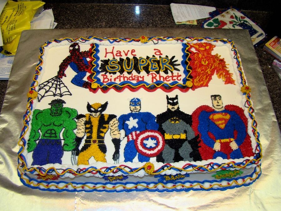 Superheroes Birthday Cake 1st Birthday Cakes 4th Birthday Cakes