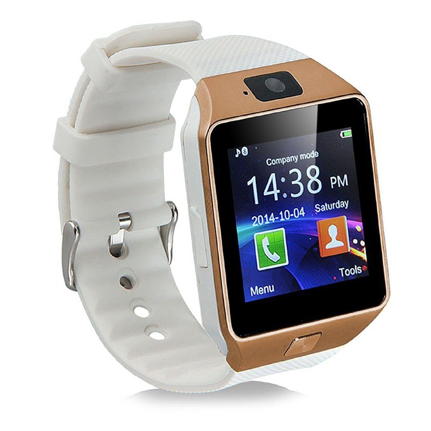 White & Gold Bluetooth Smart Watches