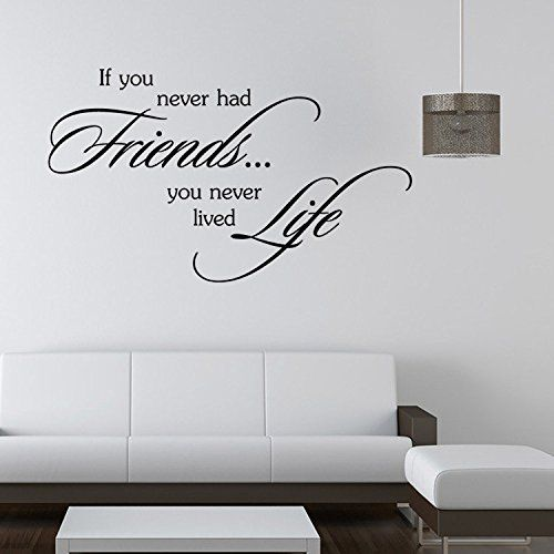 Aiwall 9342 Art Wall Stickers Friends And Life Diy Home