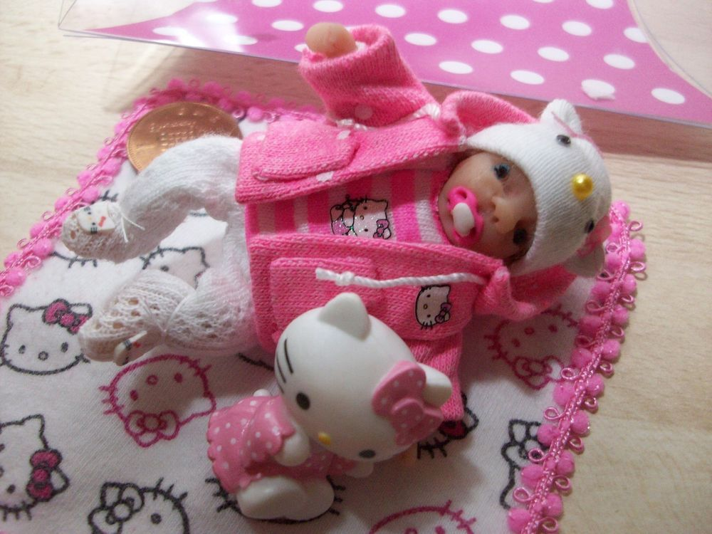 b'ful OOAK baby girl, removable hoodie, blanket & *hello