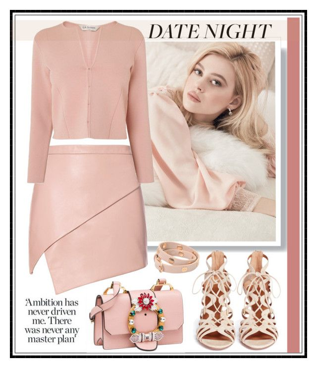 """""""Nude sexy"""" by kleinwillwin ❤ liked on Polyvore featuring Michelle Mason, L.K.Bennett, Aquazzura and Tory Burch"""
