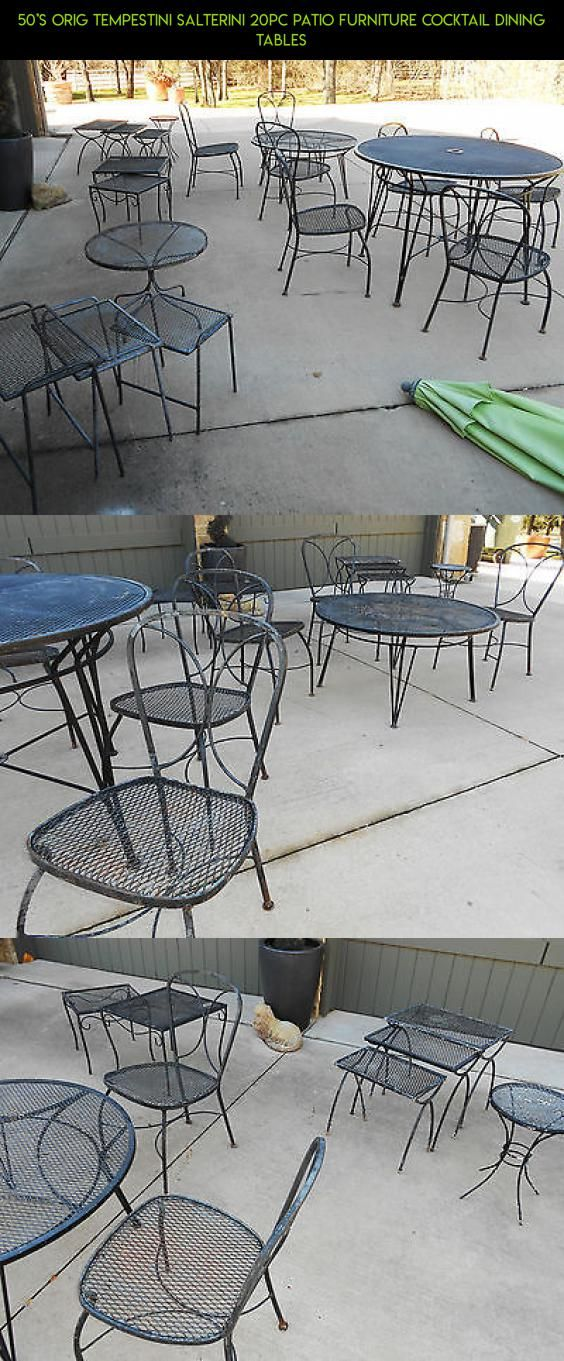 50'S ORIG TEMPESTINI SALTERINI 20PC PATIO FURNITURE COCKTAIL DINING TABLES #parts #plans #camera #tech #kit #fpv #shopping #technology #s #racing #patio #products #furniture #gadgets #drone