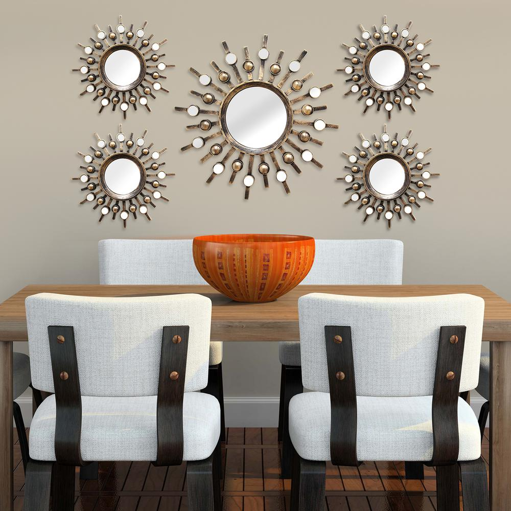 b79ac3d4cc Stratton Home Decor Burst Wall Mirrors (Set of 5) in 2019 | Autumn ...