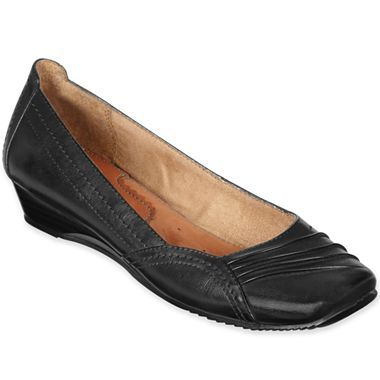 Yuu Franca Pleated Wedge Slip Ons Jcpenney Comfortable Shoes