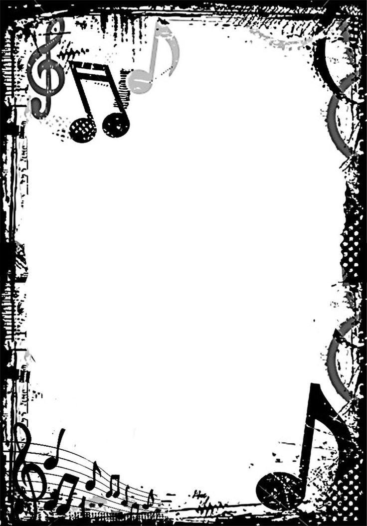 Free Music Borders Clip Art Grunge Music Frame by x-nerd on