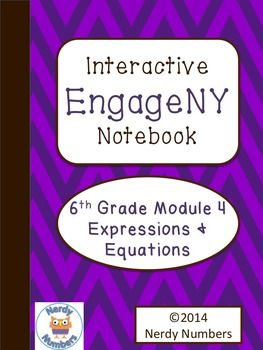 EngageNY Expressions & Equations Module 4 6th Grade Math