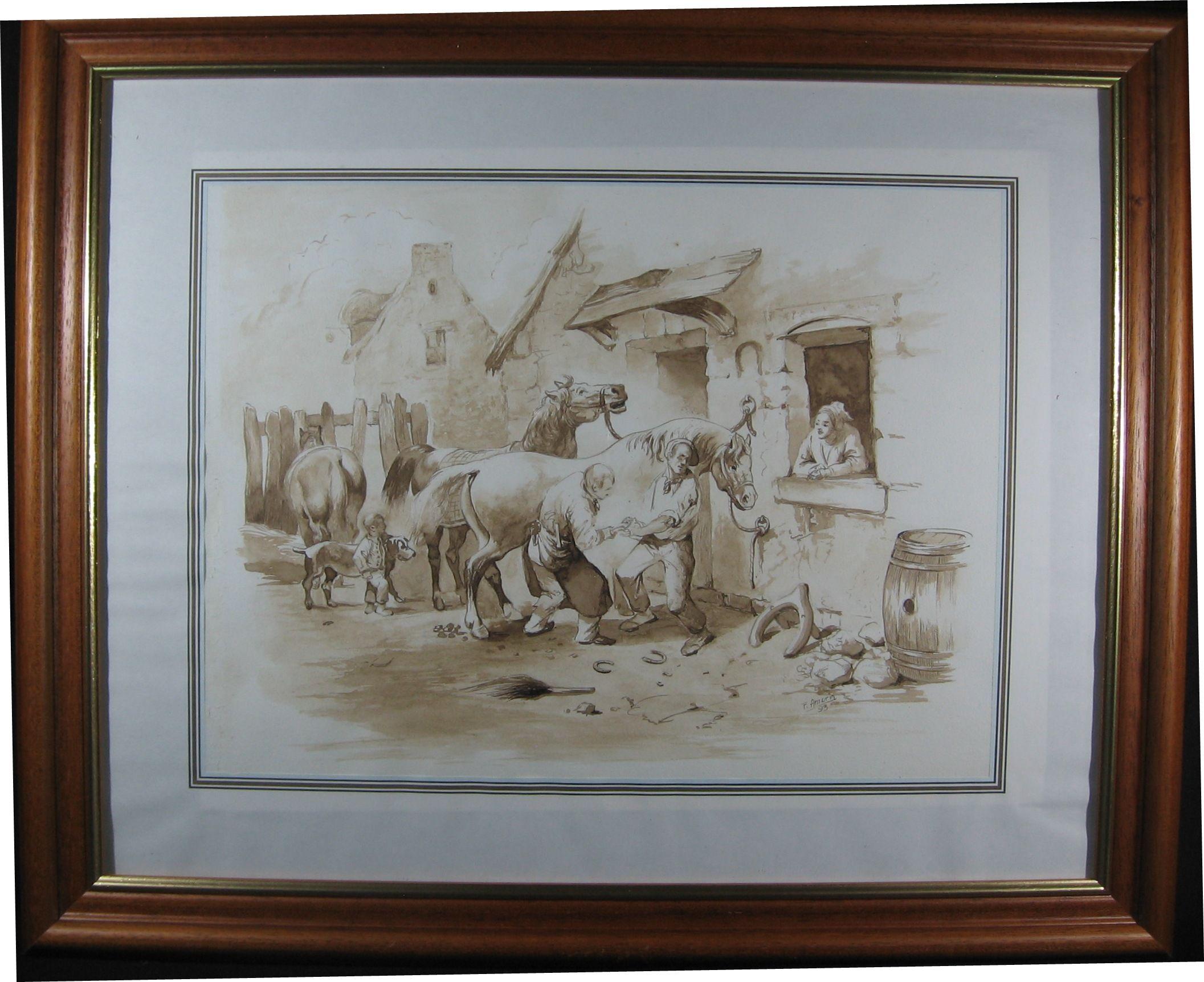#Lavis au brou de noix Fernando Amorin Peintre Peintures Dessins | Art voilier, Les arts ...