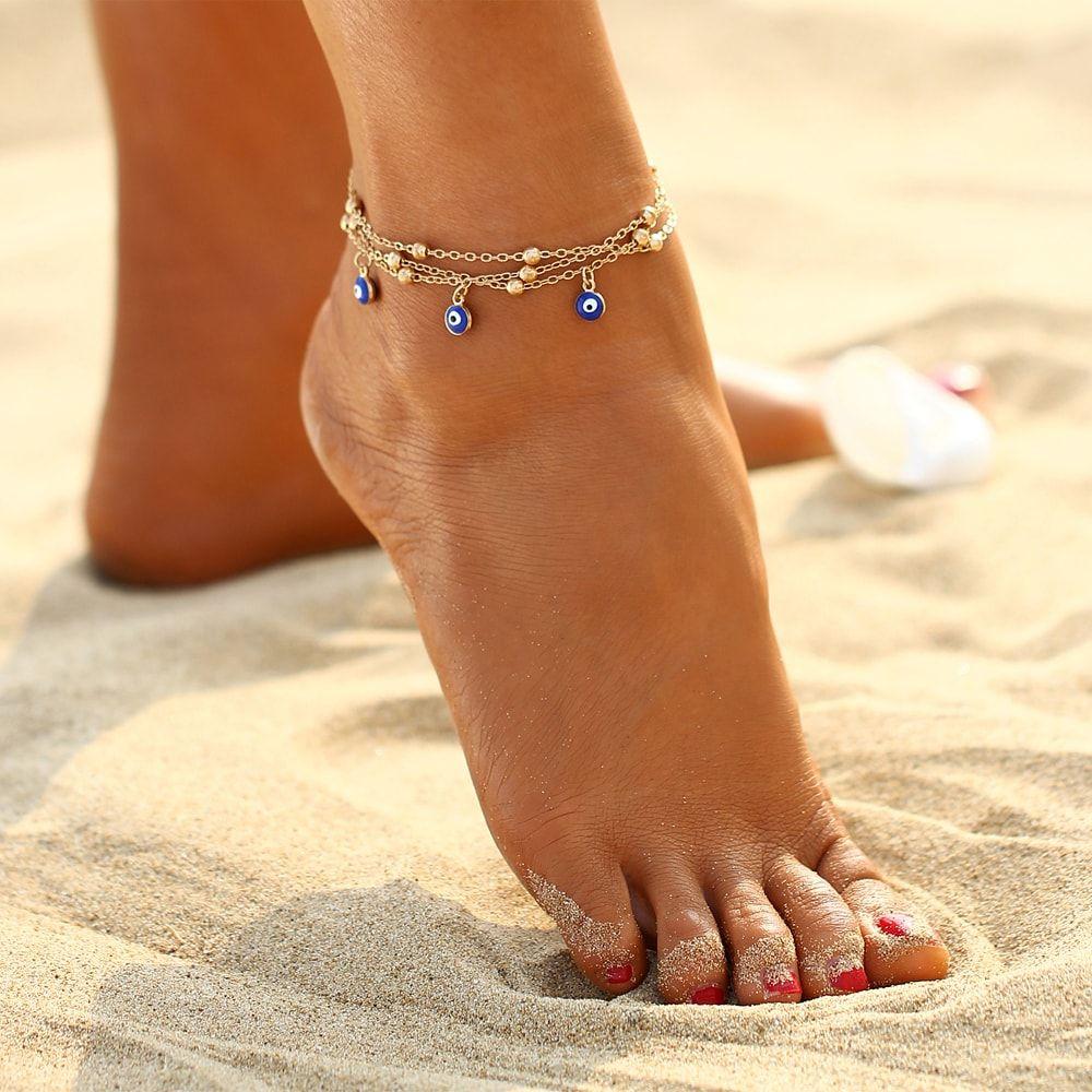 Women Fashion Beach Pied Bracelet de cheville Bracelet chaîne réglable alliage Bijoux