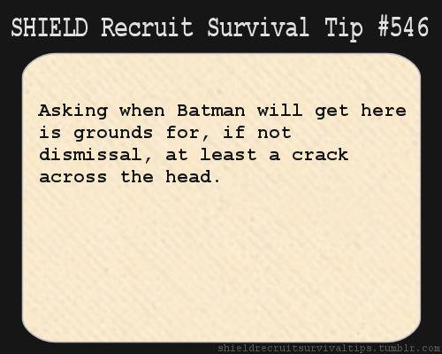 S.H.I.E.L.D Survival Tip #546