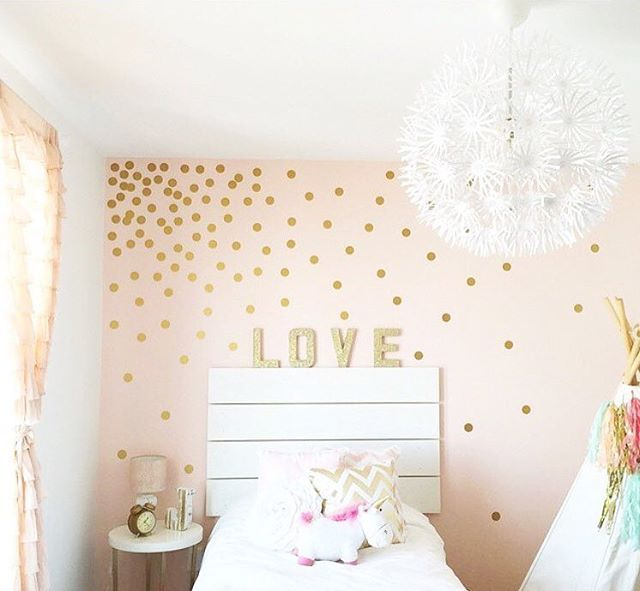 This Room By JustTwinMamas Is Too Cute! They Used Our 2 Confetti Polka Dots  To Make A Dramatic Statement In This Little Girls Room!