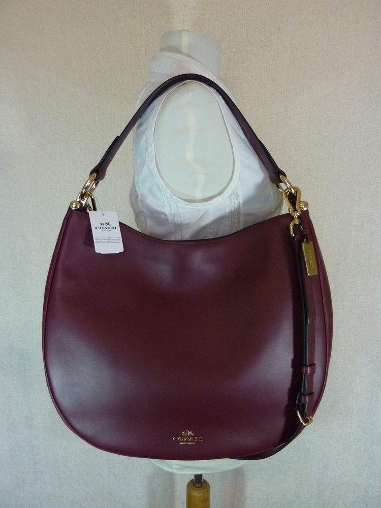 7713478dfb NWT Coach Burgundy Glove Tanned Leather Large Nomad Hobo Bag  495 - 36026   Coach  Hobo