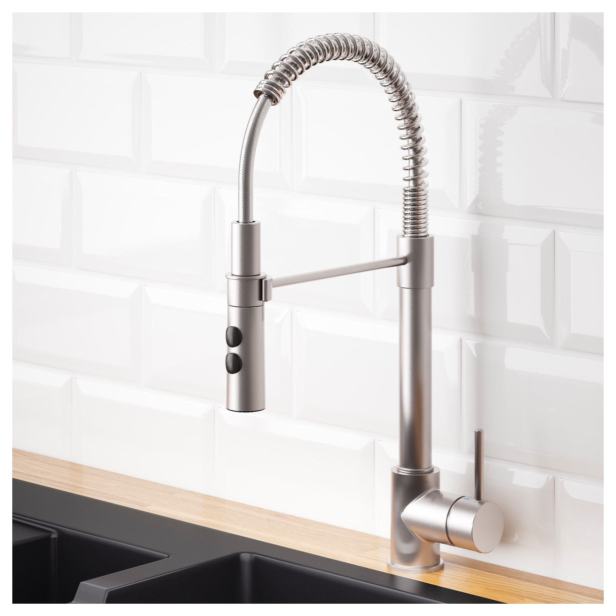VIMMERN Kitchen mixer tap/handspray Stainless steel colour IKEA ...
