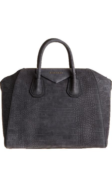 Givenchy Croc-Stamped Medium Antigona Duffel