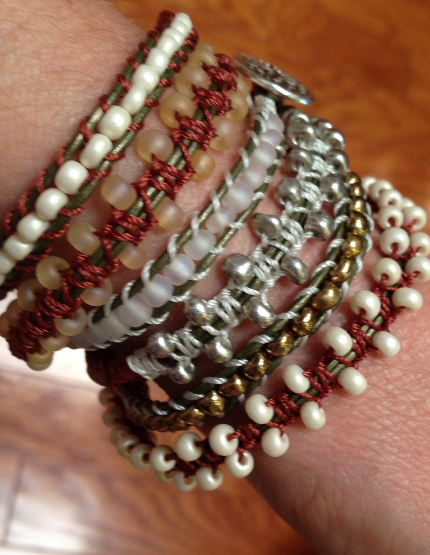 Dream Catcher Macramé Wrap Bracelet