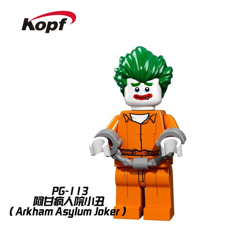 Single Sale Super Heroes Batman Movie Arkham Asylum Joker Bricks Action Figures Building Blocks Best Children Gift Toys PG113