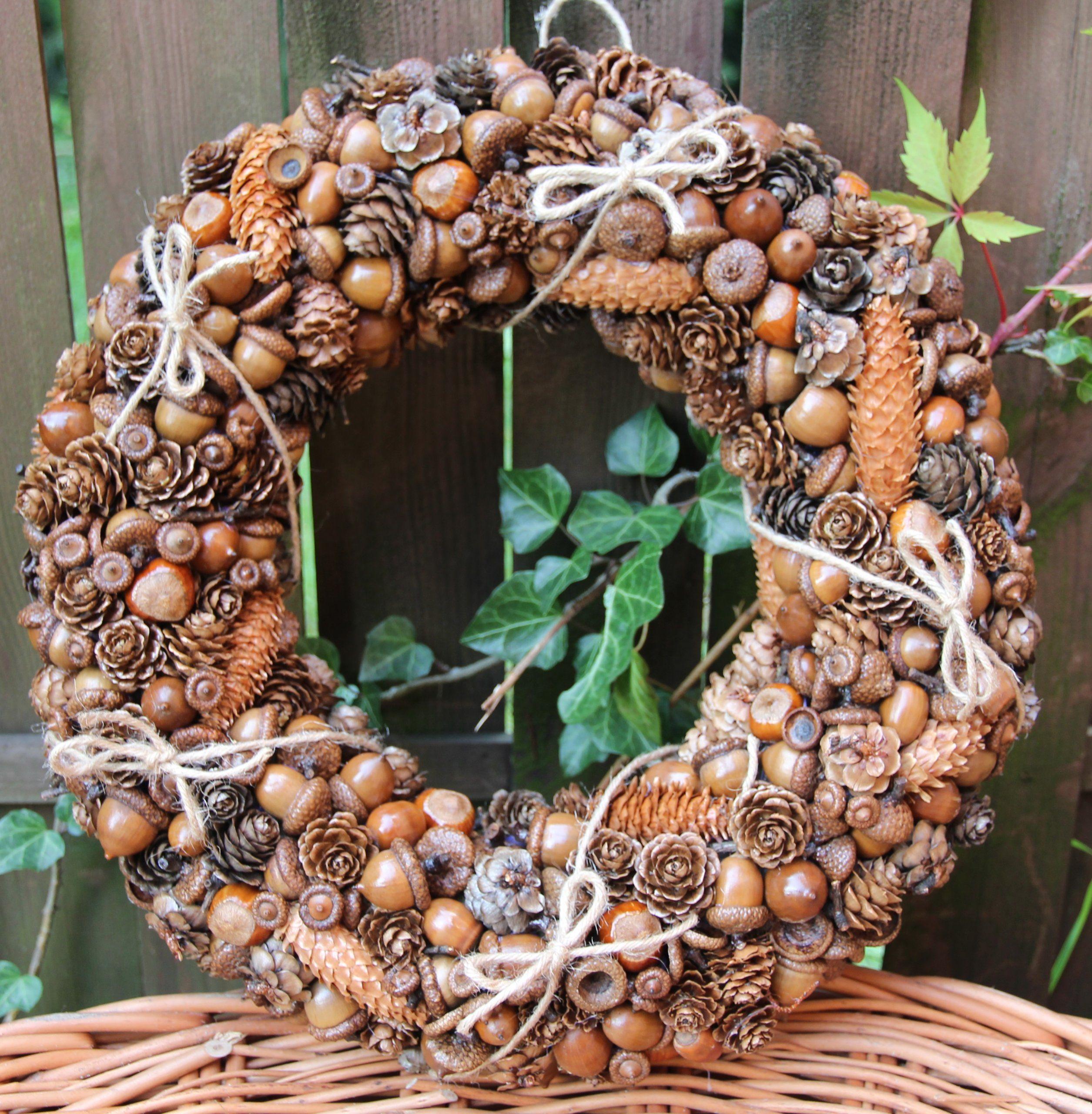 Wianek Jesienny Na Drzwi Jesien Dekoracja Ozdoba 6962706066 Oficjalne Archiwum Allegro Wreaths Fall Wreath Burlap Wreath