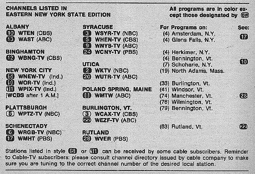 Eastern New York State Edition September 21 1974 Tv Guide Tv Guide Listings New York State
