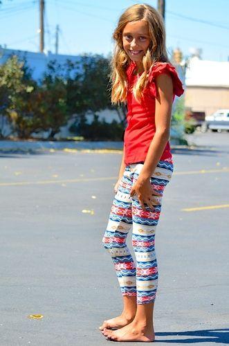 e5f8e9ac53088 Red Blue Little Girl Leggings - My Sisters Closet | Favorite girls ...