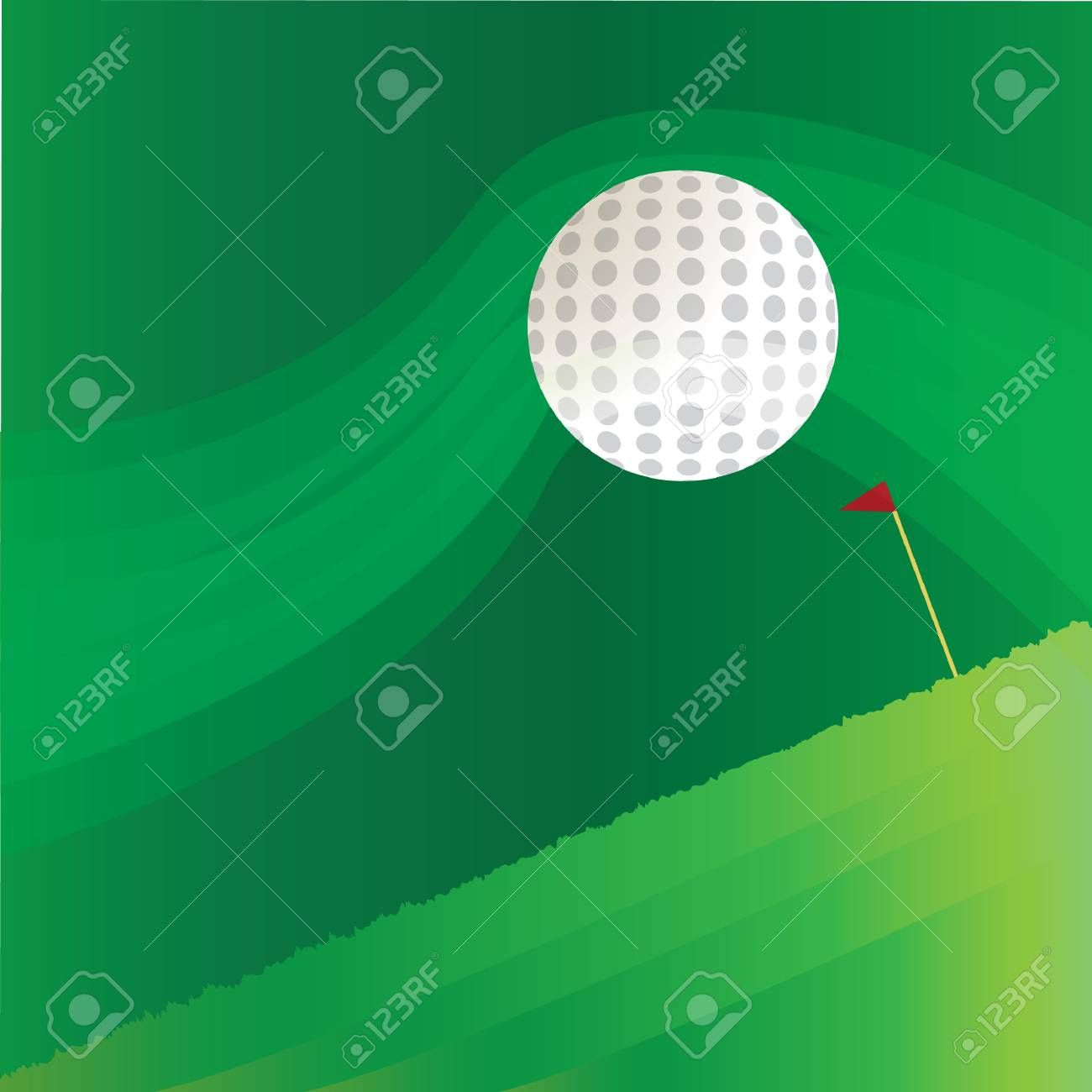 Golf Flag Stick And Ball On Abstract Background Illustration Ad Stick Flag Golf Ball Illustration In 2020 Golf Flag Abstract Backgrounds Vector Graphics