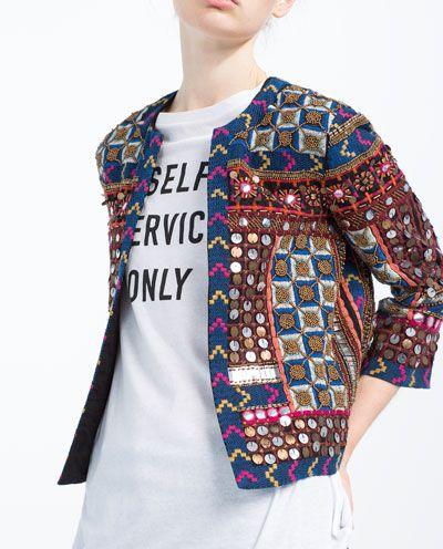 EMBROIDERED JACKET-Jackets-WOMAN   ZARA #mjwishlist