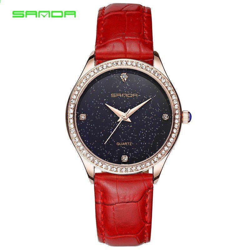 Sanda Women 2018 Top značky hodinky Módní luxusní dámy Jednoduché hodiny  Ženy Classic Quartz Náramkové hodinky Relogio Feminino ef338261f5d