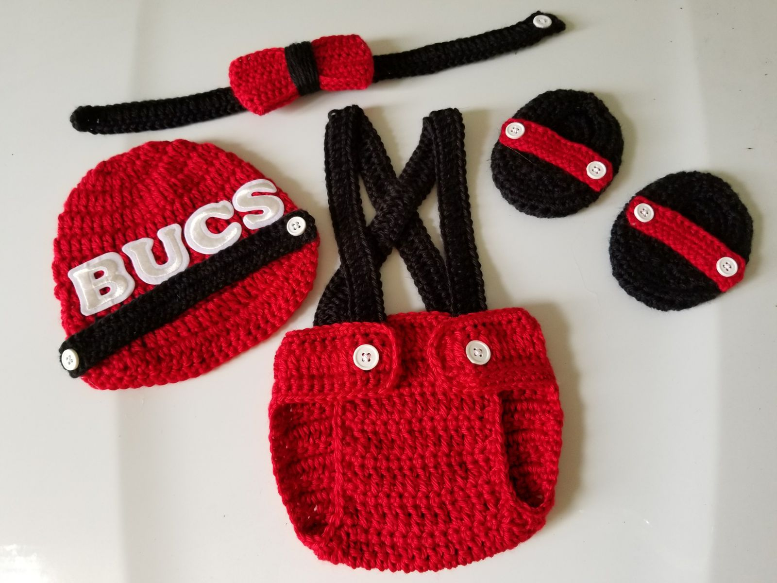 d14ad6493 Your little man will look absolutely adorable in this cute little Tampa Bay  Buccaneers Football Inspired