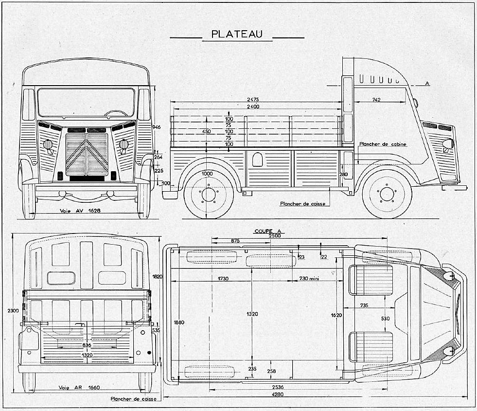 Citroen Van, Citroen Type H, Van Drawing, Food Truck, Commercial Vehicle,