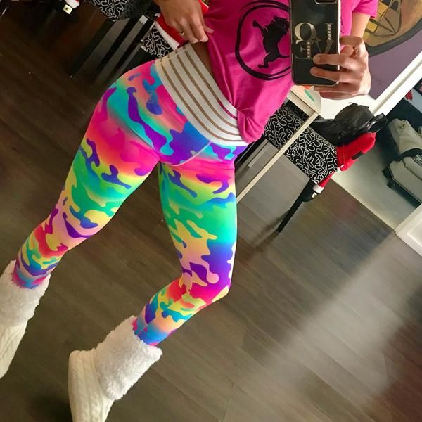 97c238341a7f89 Women's Crazy Colors Fashion Workout Leggings in 2019 | Fitness leggins |  Fashion, Style, Fitness fashion