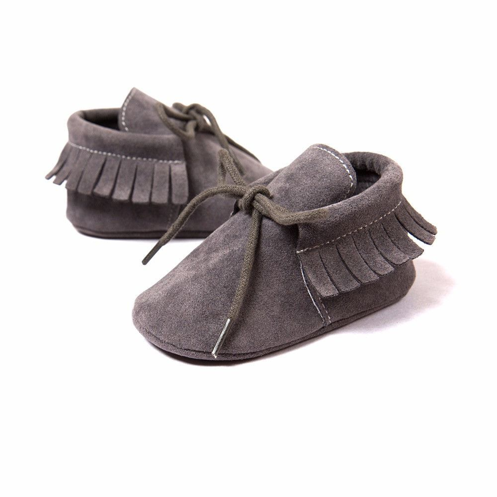 f2ffae05dea93 Fringe Tied Suede Moccasins-11 Colors | Mama days | Baby moccasins ...