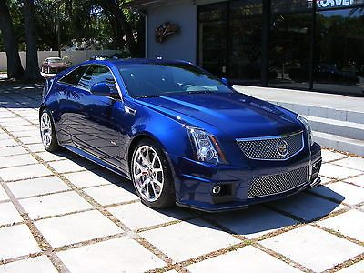 2012 Cadillac Cts V Coupe Opulent Blue 6 Speed Manual Low Miles 556